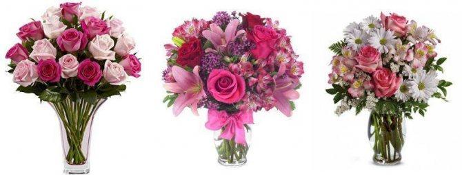 Какой цвет цветов дарят девушке - розовый