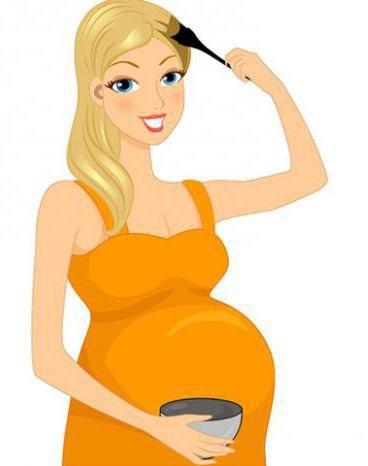 какую краску для волос можно беременным