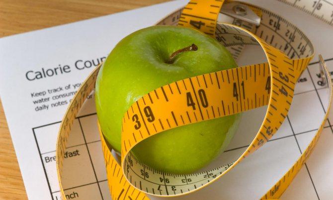 Калорийность продуктов при похудении