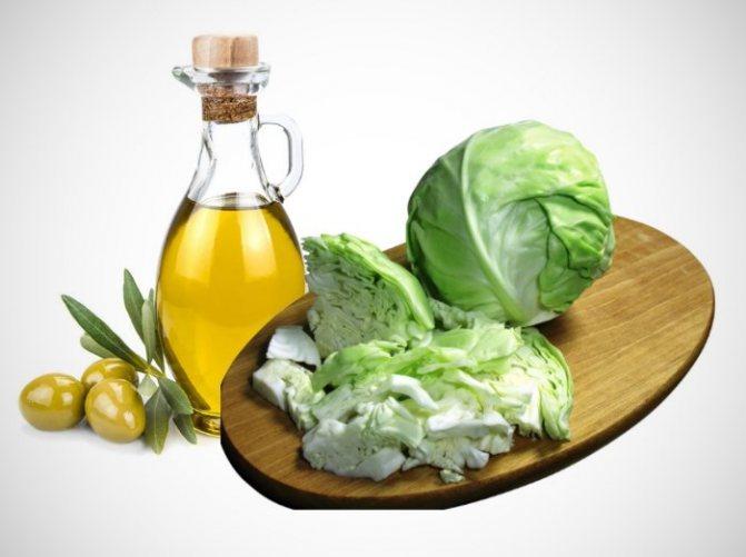 Капуста и оливковое масло для лица