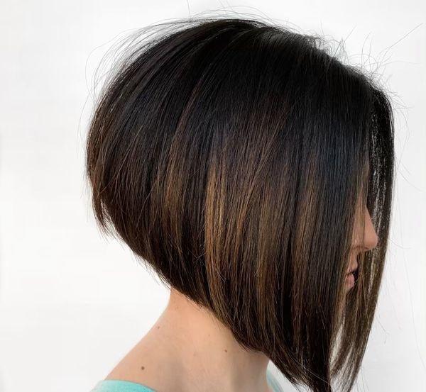 каре на ножке прямые волосы