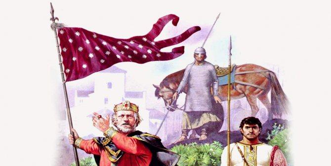 Карл Великий с орифламмой