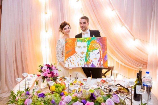 Картина - портрет молодожен