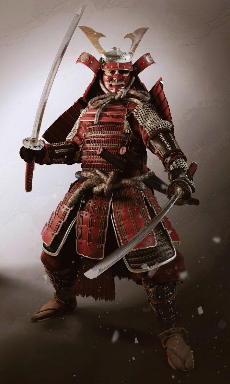 картинка для тату самурай