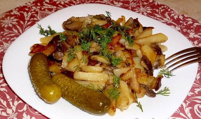 Картошечка с огурцами