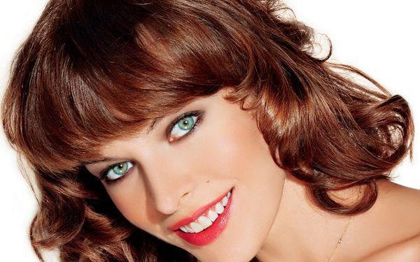 Каштановый цвет волос для зеленых глаз