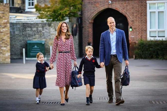 Кейт Миддлтон и принц Уильям с Джорджем и Шарлоттой