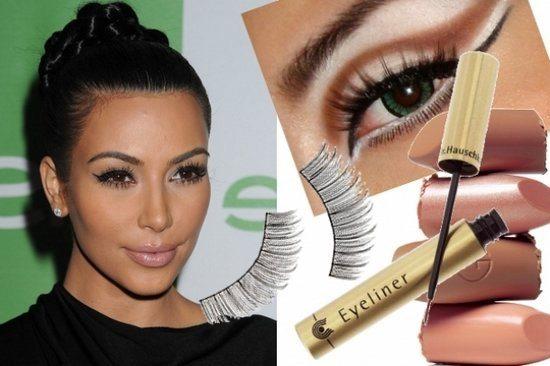 Ким Кардашьян с фирменным макияжем