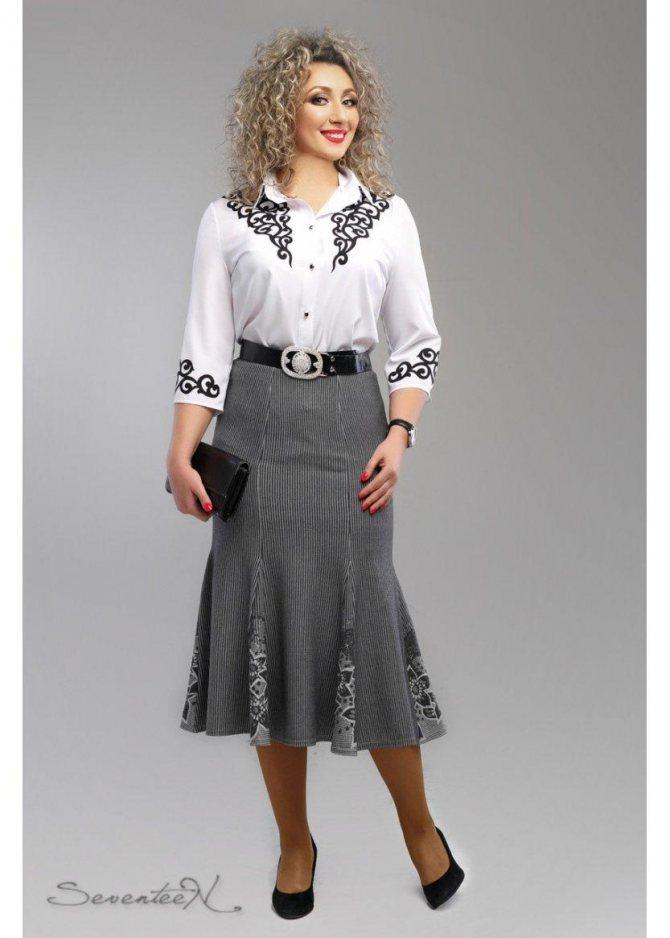 классическая юбка годе