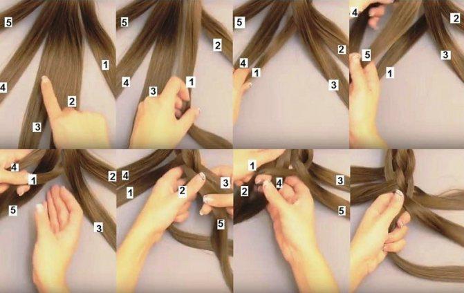 Классическое плетение косы из 5 прядей: пошаговая инструкция