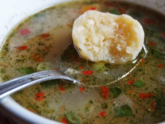 Клецки для супа классчиеский рецепт