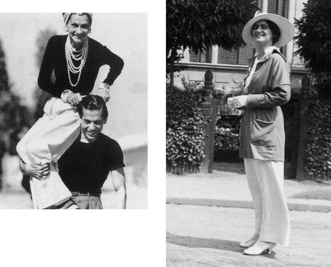 Коко Шанель и Эдвард Артур «Бой» Кэйпел, 1971 год; Габриэль Шанель, 1913 год