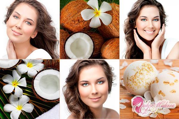 кокосовое масло на волосах