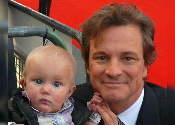 Колин Ферт и его сын Маттео