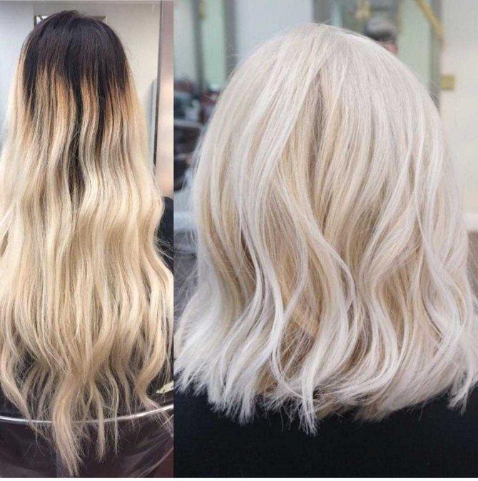 колор синк для блондинок