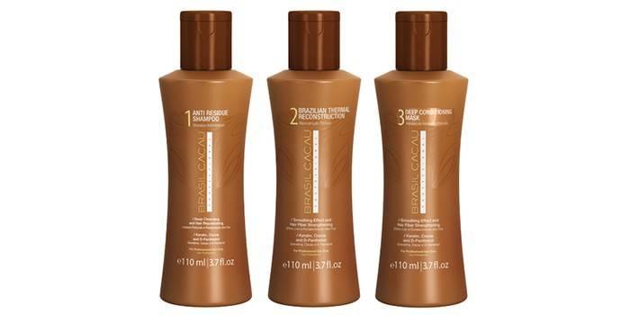 Комплекс средств для выпрямления волос с кератином от Cadiveu Professional