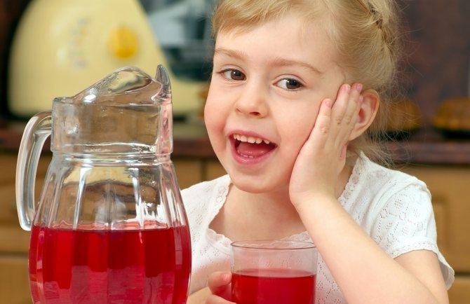 Компот из замороженных ягод для детей