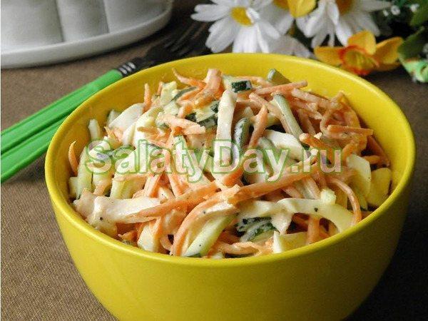 Корейский салат с куриной грудкой и огурцами - сочетание остроты вкуса и простоты приготовления