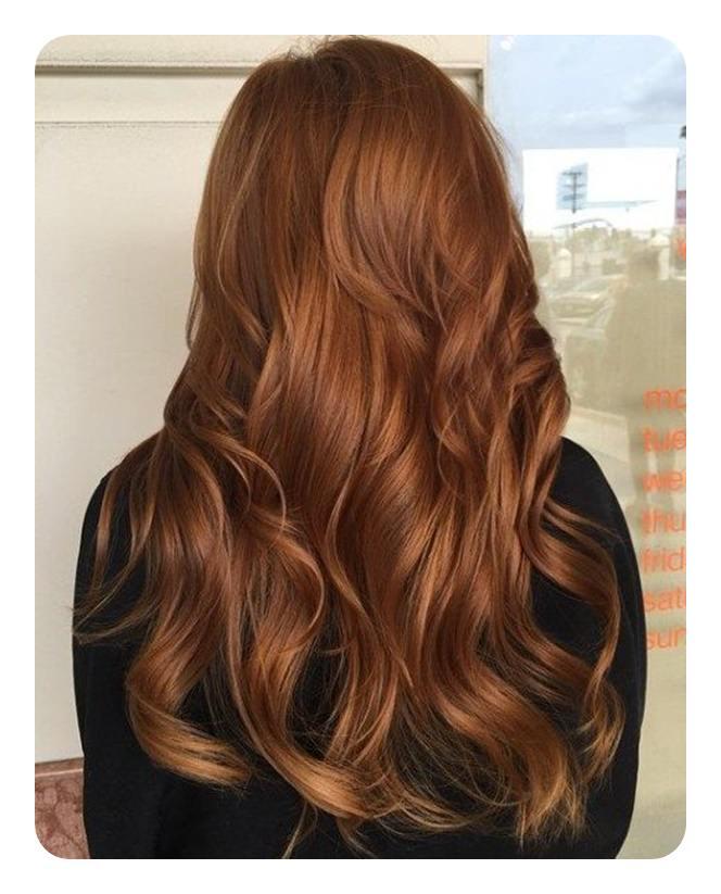 коричнево-медный цвет волос