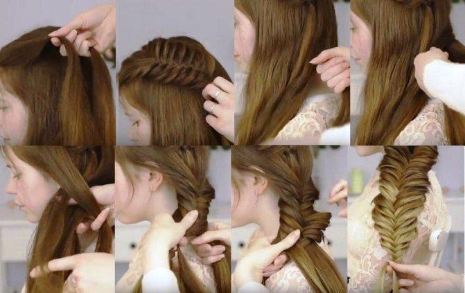 Королевский «рыбий хвост» - объемная коса пошагово