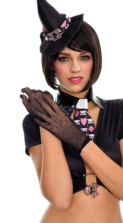 Короткие прозрачные перчатки для Волшебницы