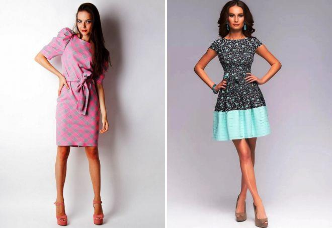 короткие весенние платья