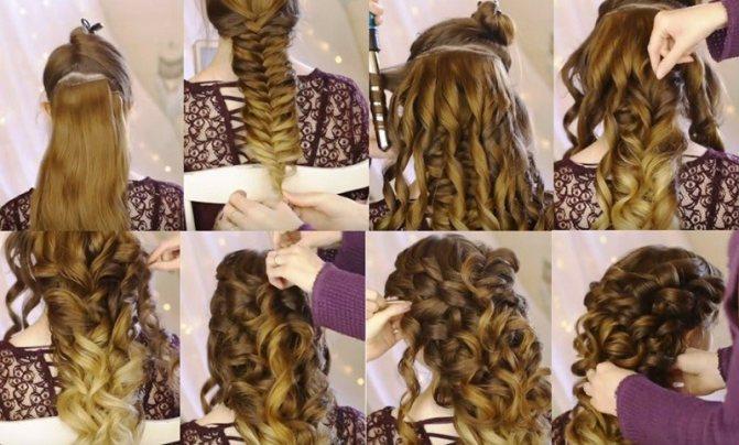 Коса «Богиня», фото выполнения поэтапно