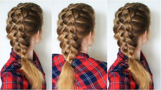 коса с двух сторон