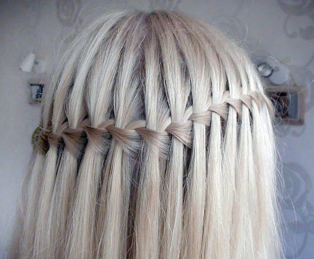 Коса водопад - плетение и фото