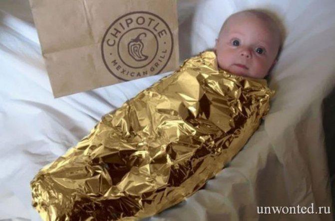 Костюм Буррито на Хэллоуин для младенца