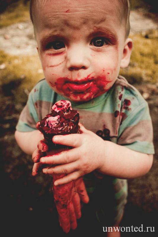 Костюм зомби на Хэллоуин для детей своими руками