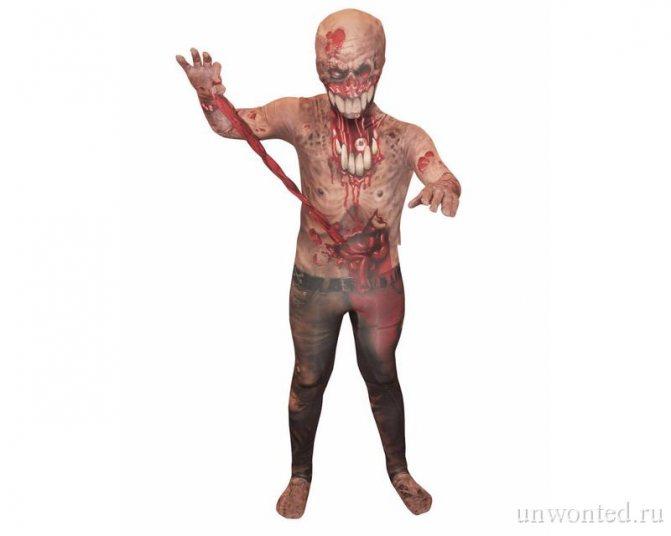 Костюм зомби на Хэллоуин для детей