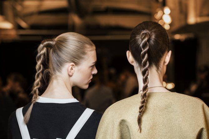 косы с резинками (силиконовыми)