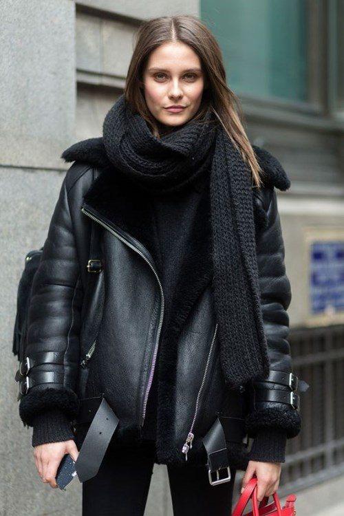 кожаная куртка на зиму