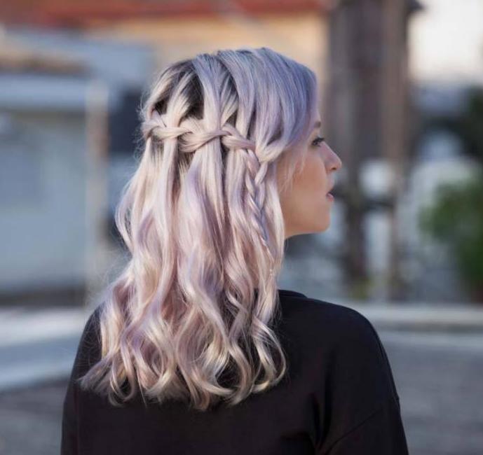 Красивая коса-водопад