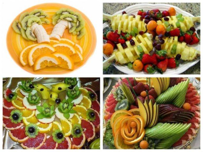 Красивое оформление фруктовой тарелки в домашних условиях