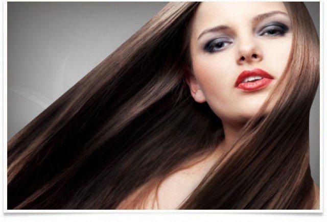Красивые волосы после химического выравнивания