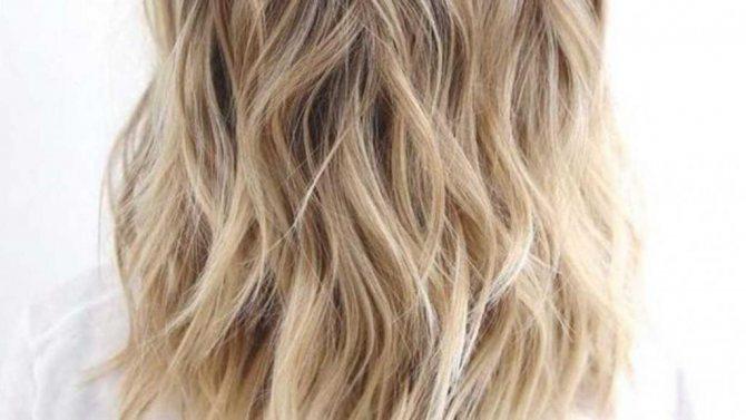 красивый блонд без рыжины