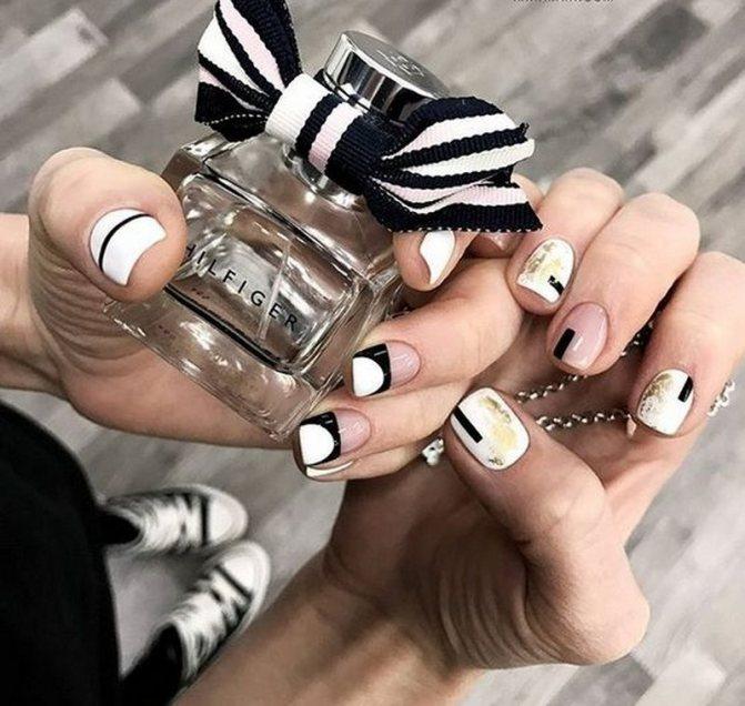 Красивый черно-белый маникюр 2020-2021 года: лучшие идеи черно-белого дизайна ногтей в разных стилях