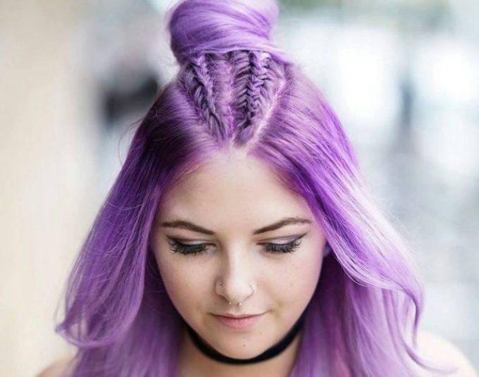 Красивый пурпурный тон