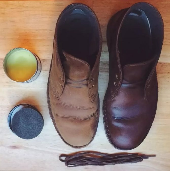 краска ботинок 3