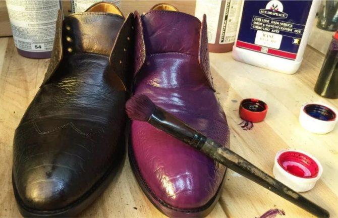 краска ботинок
