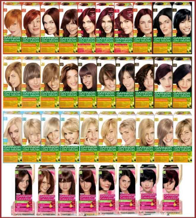краска для волос гарньер палитра цветов фото