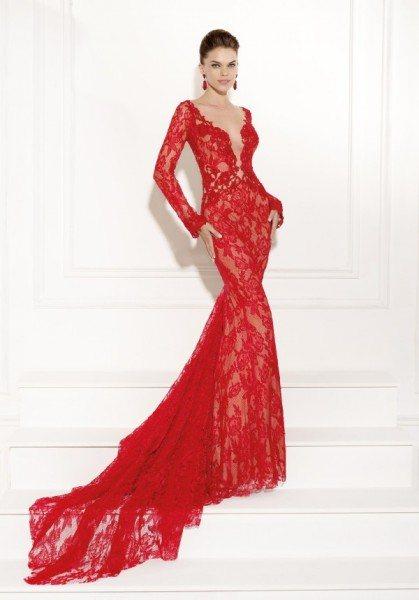 красные платья вечерние 2015