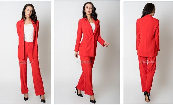красный брючный костюм для женщин