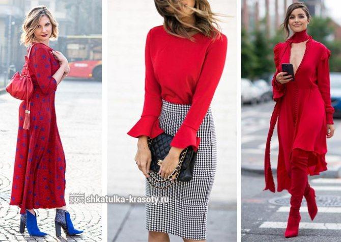 красный цвет в одежде для цветотипа лето