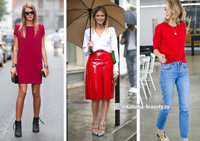 красный цвет в одежде для цветотипа весна