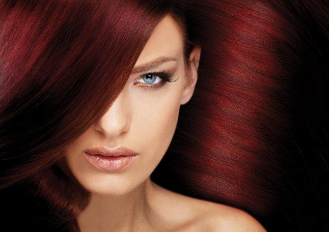 Красный оттенок волос