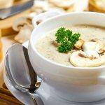 Крем суп из шампиньонов со сливками стакан блендера
