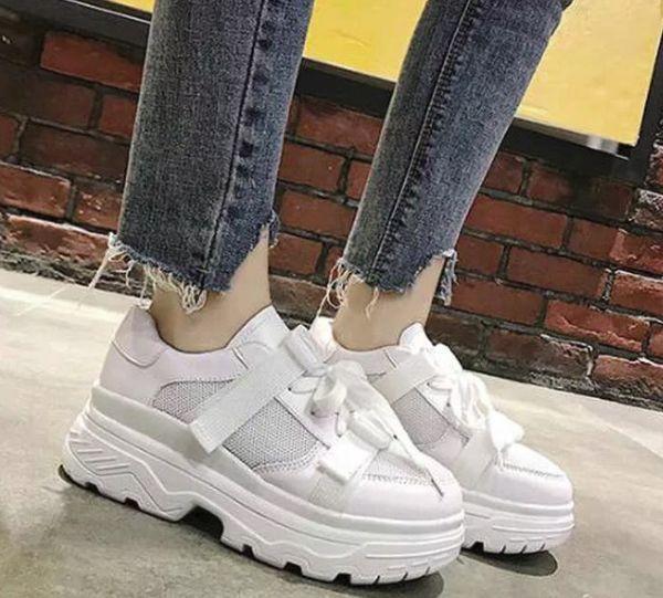 кроссовки с зубчатой платформой